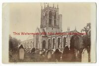 Yorkshire Cottingham Church nr Hull 1904 Real Photo Vintage Postcard 24.7