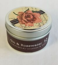 Tokyo Milk Gin & Rosewater Tin Soy Candle #12 4 oz Home Scent New