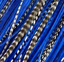 """*SALE* 30pcs. (Navy Blues) Long 8""""-13"""" Feather Extension, Whiting Farms, DIY Kit"""