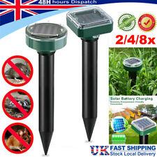 More details for 2/4x solar mole rat ultrasonic repeller repellent spike garden pest deterrent uk