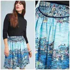 Anthropologie 52 Conversations 12 Colloquial A-Line Skirt Dear Gondolier Venice