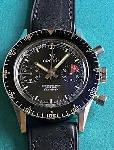 Nivada Grenchen Croton Chronomaster Vintage Watch Cronograph
