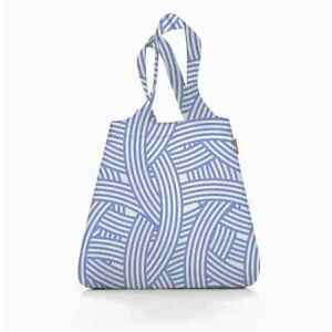 reisenthel mini maxi shopper Zebra blau weiss Schultertasche Beutel Einkauf