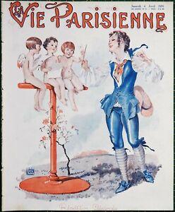 1931 Art Deco La Vie Parisienne magazine Georges Leonnec - Maurice Milliere