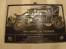 1914 Model 38 Packard Auto Wrecking Co. Plastic Plate; San Angelo, Texas