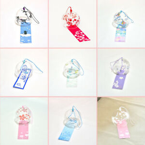 Japanese Style Glass Wind Chime Bell Garden Ornament Window Hanging Home Decor