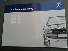 Bedienungsanleitung Betriebsanleitung Mercedes-Benz 280SL 380SL 500SL R107 SL