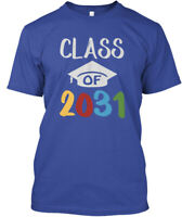 Class Of 2031 Grow With Me Graduation Hanes Tagless Tee T-Shirt