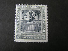 BARBADOS, SCOTT # 102, 1f. VALUE 1906 LORD NELSON CENTENARY ISSUE MH