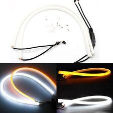 2x 60cm LED indicador de señal de circulación diurna DRL Flexible Tubo De Vuelta Luz de tira