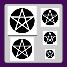 Set of 5 Pentagram/Pentacle Star STENCILS in 5 Sizes! Halloween/Gothic/Wiccan