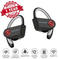 Wireless Bluetooth Headphones Sport In Ear Stereo Earphones Headsets Mic