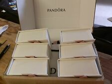 BN PANDORA CHARM JEWELLERY/GIFT BOXES X 6 + 6 PANDORA GIFT BAGS AND 1 RING SIZER