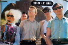 RARE MODERN ENGLISH 1983 VINTAGE ORIGINAL MUSIC POSTER
