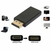 NEW Display Port to HDMI Male Female Adapter Converter DisplayPort DP to HDMI *1
