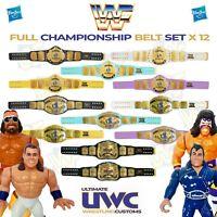 WWF WWE Retro Wrestling Belt Set x 12 for Hasbro Figures