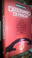 GIUSEPPE CORIA-DIZIONARIO DI MAGIA-TALISMANI MOSTRI PIETRE EUROCLUB- 1996 - SM2