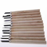12 PIECE LINO & WOOD CARVING CHISEL TOOL SET - SCULPTURE CARPENTRY MODEL MAKING