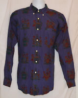 RARE VINTAGE 90S TOMMY HILFIGER ALL OVER PRINT SHIRT CREST CROWN LOGO POLO L