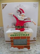 Hallmark 2011 Countdown to Christmas Santa Clock Ornament