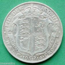 1914 George V Silver Half-Crown SNo23032