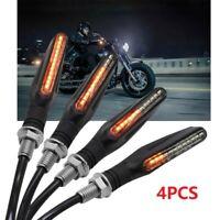 Clignotants à LED adaptables toutes Motos allumage séquentiel des LED 4pcs