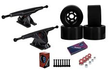 "Cal 7 Longboard Flywheel 10.75"" Axle Truck Bearing 97mm Black Skateboard Wheels"