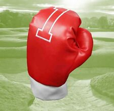 Red Driver No 1 Wood Boxing Glove Golf Club Driver Headcover