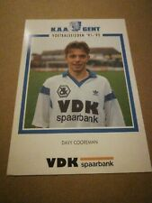Carte Postale KAA Gent Davy Cooreman