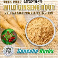 100% PURE & CERTIFIED AMERICAN GINSENG HIGH POTENCY 20:1 EXTRACT POWDER 50 GRAMS