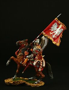 Tin soldier, Collectible, Polish Winged Hussar, 1670's 54 mm, Poland