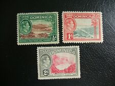 Dominica 1938-47 SG99,100 and 102 Local Views. Mint Hinged. Cat £1.65
