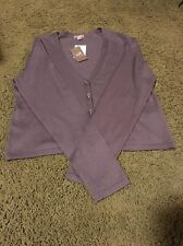 J.jill NWT Size Small Loganberry Silk,cotton And Cashmere Blend Cardigan
