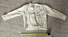 Antique Vintage Cream and sparkling sweater embellished with rinestone beads.