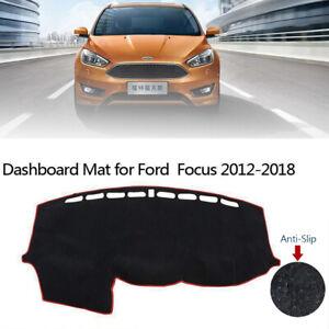 Car Dashboard Cover Dash Mat Sunshield Anti-Skid Pad For Ford Focus 2012-2018
