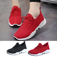 Womens Running Trainers Lace Up Flat Comfy Fitness Gym Sports Shoes Casual Shoes