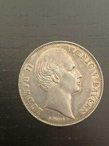 monnaie ALLEMAGNE - BAVIÈRE 1 Gulden Louis II, 1864 R1
