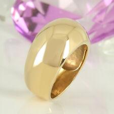 Glatter massiver Ring in 585 Gelbgold 14K ohne Steinbesatz 19,8 Gramm Gr. 61