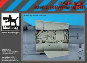 Black Dog A48098 Resin 1/48 Grumman F-14D Tomcat engine details AMK