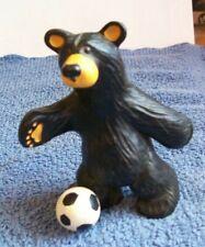 Big Sky Carvers Jim Fleming Bearfoots Soccer Bear