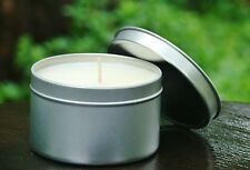 Medium CHERRY SPICED VANILLA Triple Scented Organic Eco Soy CANDLE TRAVEL TIN