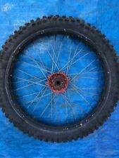 2003 03 Honda Cr125 Cr125r Cr 125 Front Wheel Assembly Rim Hub Tire Spokes