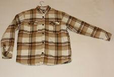 Billabong Straight Fit Jacket Coat Boys XL - Brown Plaid - Button up