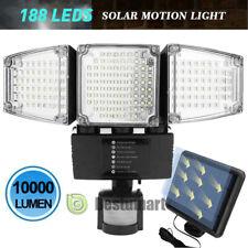10000LM Solar Lights Outdoor,Super Bright LED Motion Sensor 6500K Security Light