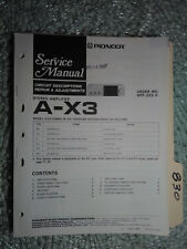Pioneer A-X3 service manual original repair book stereo amp amplifier 18 pages