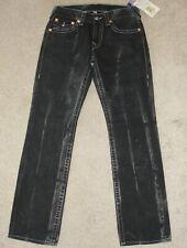New Men's True Religion Jeans SZ 31 Black Mudslide Basic Straight Natural