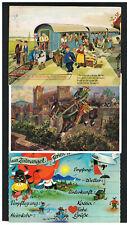 Juxkarten Schwäbe`sche Eisenbahn 3 schöne Farbkarten