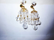 Vintage AVON Golden Drop Pierced Earrings w/ Surgical Steel Posts *New* 1994