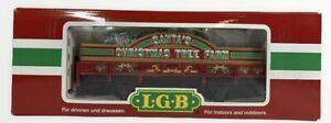 """Lgb 42103 """"Santa's Christmas Tree Farm"""" Train Car G Scale NIB"""