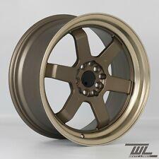 "4x White Label 669 Gold 17"" x 8"" 5x114.3 ET35 alloys fit MR2 EP3 Civic IS200 DC5"